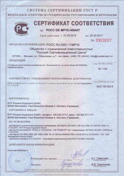 GOST-R Certificate